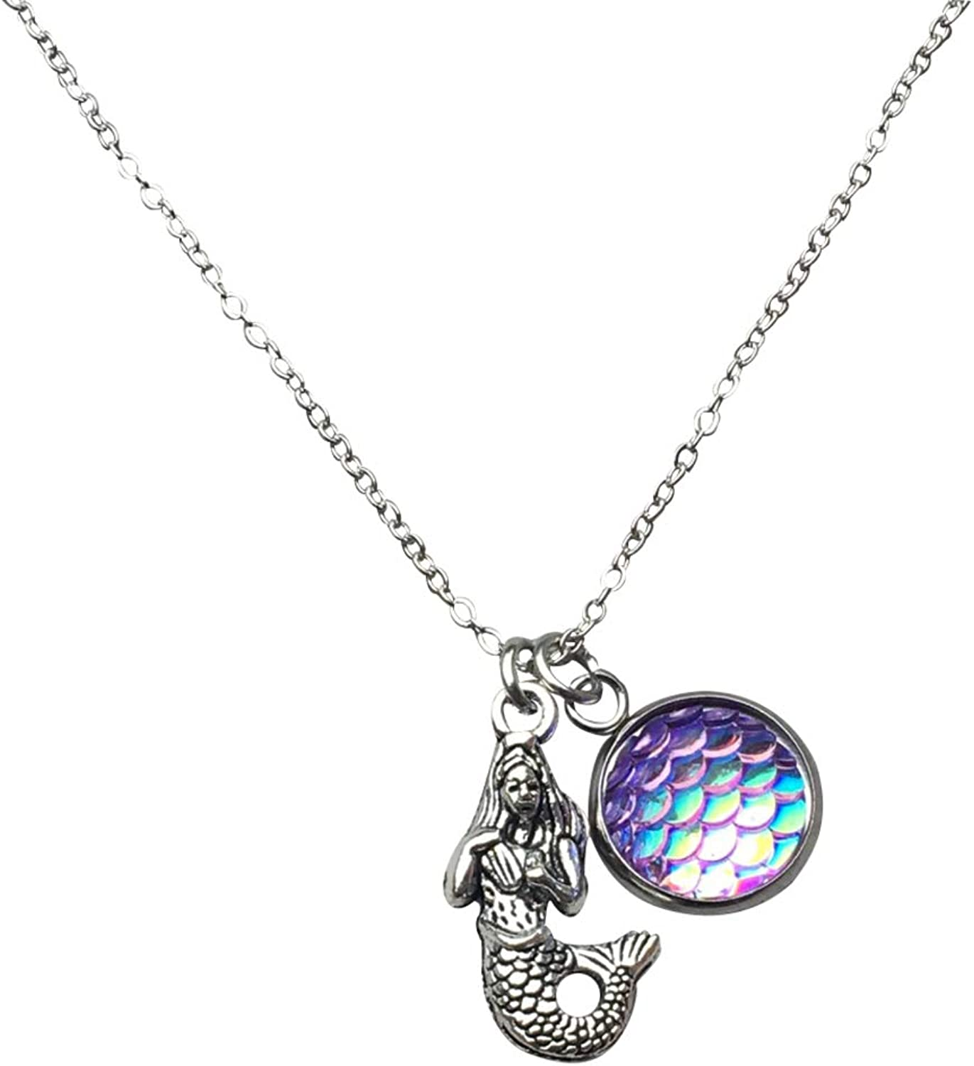 Infinity Collection Mermaid Pendant Necklace, Mermaid Scale Charm Jewelry Idea