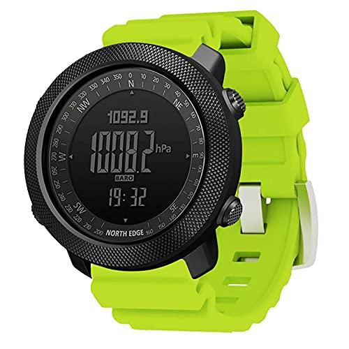 ZGZYL Apache Men's Smart Watch Altímetro Impermeable Altímetro Barómetro Compás Luminoso Exhibición Digital Exhibición Al Aire Libre Reloj Deportivo Reloj del Tiempo Reloj Digital para Hombres,H