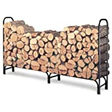 Landmann USA Landmann 82433 8-Foot Firewood Log Rack Only, 8-Feet, Black