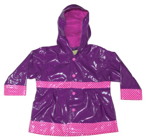 Western Chief Little Kids Girls' Waterproof Rain Coat, Olivia, 4T