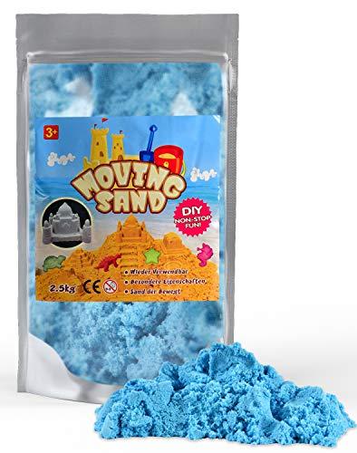 L + H WORLD Magic Sand 2,5Kg | Magischer Kinetic Sand im XXL Set | Bunter Magischer Spielsand für Kinder | Sand Spielset für Sandkasten geeignet für Kinder Jungen & Mädchen für Drinnen & Draußen