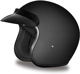 Daytona Helmets Motorcycle Open Face Helmet Cruiser- Dull Black 100% DOT Approved