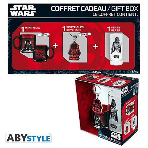 ABYstyle ABYPCK083 Star Wars Gift Box Taza con llavero y vaso Darth Vader