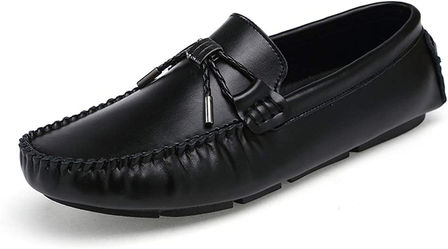 Easy Go Shopping Driving Loafer for Men Bowknot Moccasins Genuine Leather Lightweight Comfortable Soft Boat shoes Cricket shoes