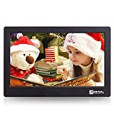 Arzopa Wireless Digital Picture Photo Frame - HD 1024x768 (16:9) IPS Widescreen MP3 MP4 Video Player with Calendar/Clock/Remote Control Black (10 inch)