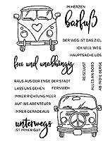 ドイツ車透明クリアシリコンスタンプ/DIYスクラップブッキング用シール/アルバム装飾クリアスタンプシートA1022