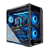 Thermaltake LCGS View 390 AIO Liquid Cooled CPU Gaming PC (AMD RYZEN 9 3900X 12-core, ToughRAM DDR4 3600Mhz 16GB RGB Memory, RTX 3090 24GB, 1TB M.2, Win 10 Home) V51B-X570-V39-LCS, Black