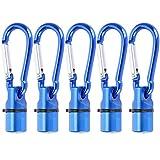 Pet Glowing Anhänger, LED Pet Flash Anhänger Pet Luminous Safety Nachtlicht Halskette Anti-Lost Anhänger mit Karabiner für Katzenhunde(Blau)