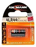 ANSMANN Batteria di Marca Alkaline 4LR44 (6V) V04034, A544, 28° per apertura porta garage, sistema di allarme, mini radio, grilletto per videocamera, dispositivi di misura, campana ecc.