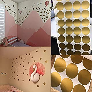 Cartoon Polka Circle Dots Wall Stickers For Kids Baby Rooms Tiny Polka Round Wallpaper Home Decor Peel and Stick Vinyl Wall Art (Color : Light Blue, Size : 5cmX5cmX28pcs)