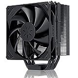 upHere サイドフロー型CPUクーラー 空冷 CPUファン Intel/amd対応 静音 簡易【N1055BK】