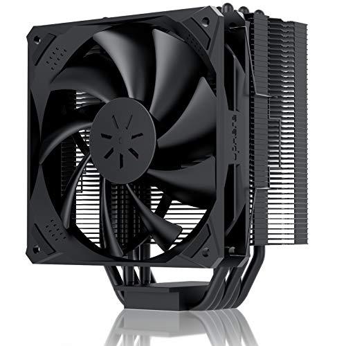 upHere CPU Kühler mit 5 Heatpipes, 120mm PWM Lüfter,Prozessorlüfter für Intel und AMD CPUs, N1055-BK
