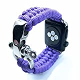 XUANTAI Apple Watch Band 38mm/40mm S/M Paracord iWatch Sports Strap Replacement for Women Man Apple Watch Series 6/5/4/3 -Lavender