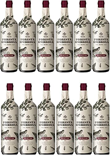 Cuore Verde Foresta Ombrosa Primitivo Puglia Rotwein Biowein trocken IGT Italien (12 Flaschen)