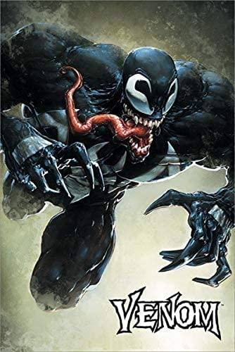 AMCYT Marvel Comics Poster Venom Leap 60 x 90 cm pintura Póster Marvel películas divertidas Venom Poster (with Frame2,12 x 18 inch(30 x 45 cm)