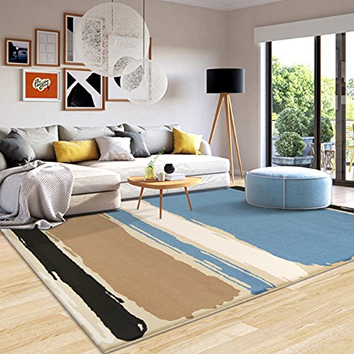 LiuJF Geometrisch tapijt met patroon, abstracte kunst, woonkamer, slaapkamer, restaurant, de study Hall Bedside Blanket-thee-tafel-bank-huishoud-tapijt-lengte 80-140 cm 140 * 200CM