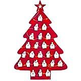 FEIGO 1-24 giorni luci LED in feltro albero di Natale calendario dell'Avvento con ciondolo a forma di casa
