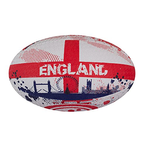 OPTIMUM Men's Nations Rugby Ball, Größe 5, bunt-England, 5