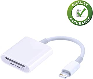SD Card Reader for iPhone (Requires iOS 9.2 or Later) [Upgrade 2in1] Lightning to Micro Memory Card Adapter, Cameras Viewer for iPad, Plug and Play