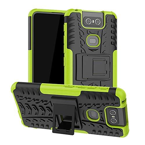 LFDZ Asus Zenfone 6 ZS630KL Hülle, Abdeckung Cover schutzhülle Tough Strong Rugged Shock Proof Heavy Duty Hülle Für Asus Zenfone 6 ZS630KL / Zenfone 6Z ZS630KL Smartphone,Grüne