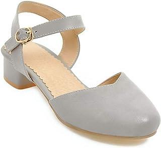 BalaMasa Womens ASL05917 Pu Block Heels