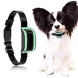 MASBRILL Collar antiladridos para Perros pequeños y medianos - Sonido vibración Perro Barking Collar de Entrenamiento de Control Hebilla Dispositivos Anti ladrido Deje de Perro ladrando (S, Verde)