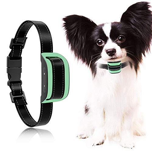 MASBRILL Anti Bell Halsband für Kleine und mittelgroße Hunde Vibration ohne Schock Harmlos 7 verstellbare Stufen hundeerziehung Halsband (S, Grün)