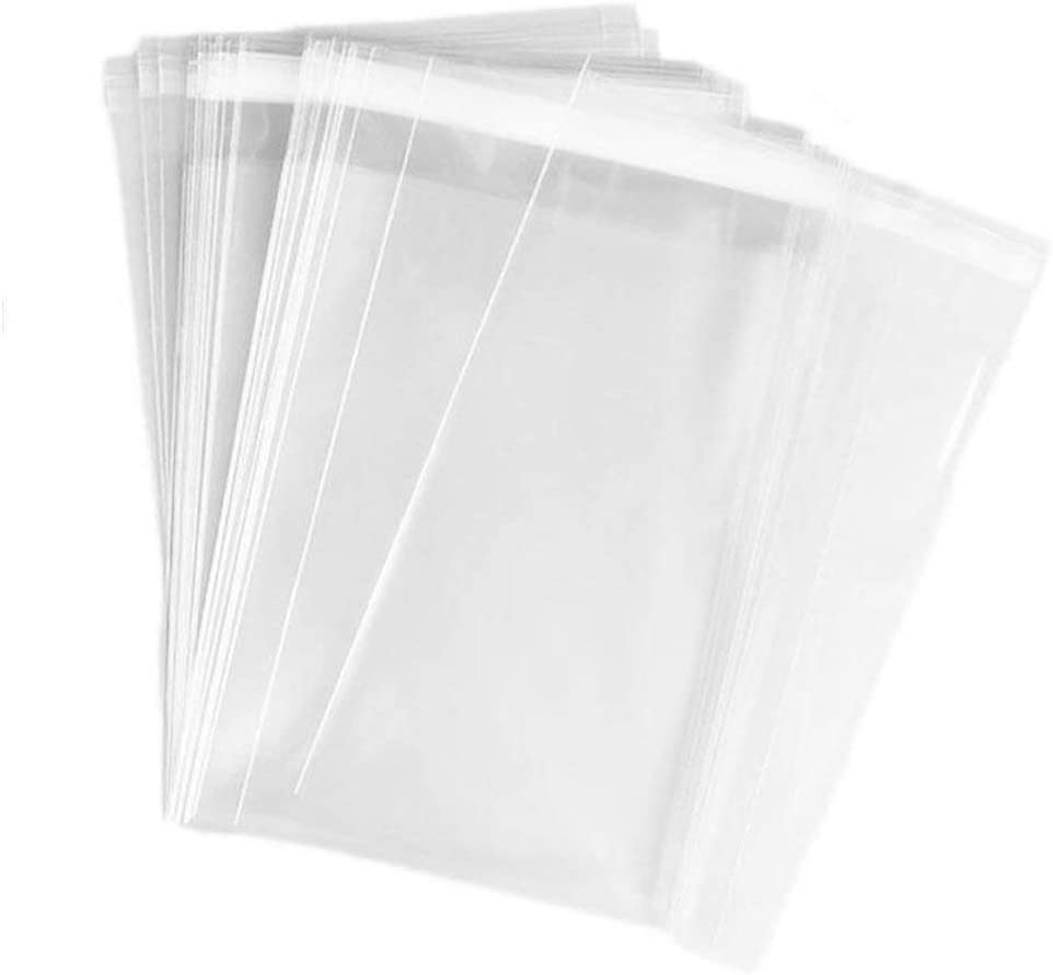 ericotry 100 Pcs 4 3/4in. X 6 1/2in. Clear Resealable Cello/Cellophane Bags Good for Bakery Candy Chocolate Candle Cookie Poly Bags Jelly Packaging Bags