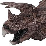 OoB Triceratops Super Dinosaurio Marioneta de Mano No Tóxico Suave de Goma Animales Cabeza Títeres Modelo Realista Figura Juguetes