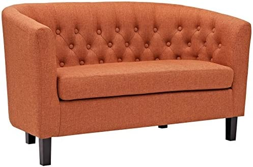 Best Modway Prospect Upholstered Contemporary Modern Loveseat In Orange