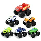 ATIN 6X Blaze und die Monster Toy Machines Fahrzeuge Racer Cars Trucks for Kinder Set