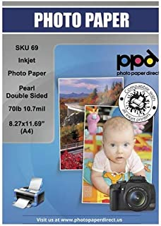 PPD Inkjet Premium Photo Paper Pearl Double Sided 70lb. 290gsm 10.7mil A4 (8.27 x 11.69
