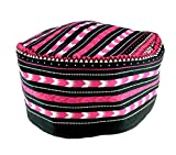 Vipada Handmade African Dashiki Hat Kente Pattern Kufi Kofi Hat Cap Style2 (Black and Pink)