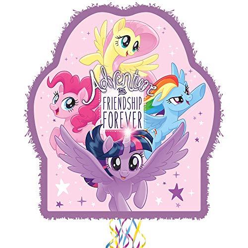 Birthday Party Activities 18 x 3 x 21 1//2 Inches 2lb Filler Capacity Ya Otta Pinata Pull String My Little Pony Pinata