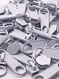 Slantastoffe 20 Zipper Schieber für 3mm Reißverschluss endlos (Weiß)