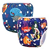 Storeofbaby Funda lavable para pañales de bebé reutilizable para Little Swimmer 2 Pack