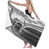Grande Suave Ligero Microfibra Toalla de Baño Manta,Big Ben y el Puente de Westminster en Londres, Reino Unido,Hoja de Baño Toalla de Playa por la Familia Hotel Viaje Nadando Deportes,52' x 32'
