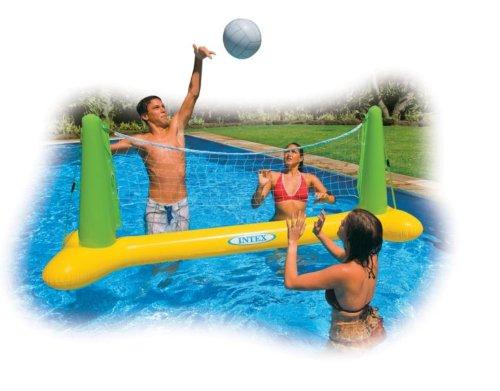 Intex aufblasbares Pool Planschbecken Volleyball Spiel Netz Ball 239 x 64 x 91 cm