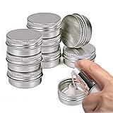 WESEEDOO Kleine Dosen Salbentiegel Kosmetikbehälter Kosmetik Tiegel Mini Pot De Confiture Vide Reisebehälter Für Flüssigkeiten 10pcs