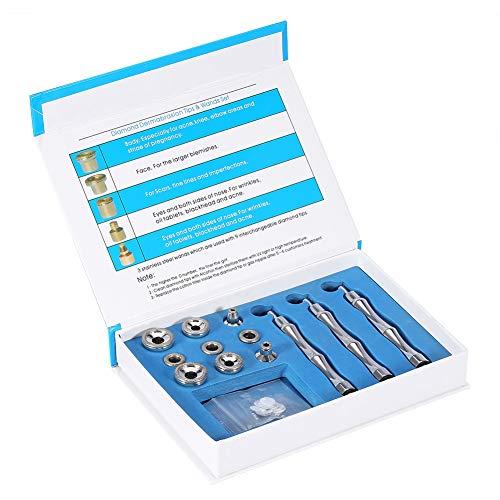 Varita de dermoabrasión de diamante reemplazable, práctico accesorio de microdermoabrasión de diamante, varita de punta de diamante para microdermoabrasión, para eliminar el acné y suavizar