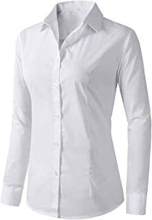 Beninos Women's Formal Work Wear White Simple Shirt