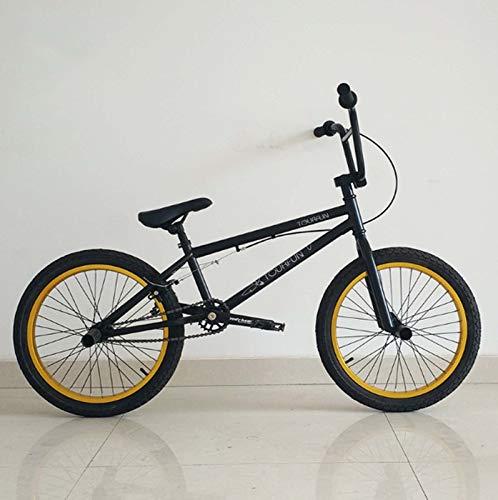 MIAOYO Bici BMX Professionale per Adulti 20 Pollici, Action Action BMX Bicycle, Adatto per Il Livello Principiante Ai Riders Avanzati Bikes Street BMX 25 * 9T,b