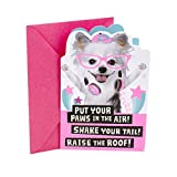 Hallmark Birthday Card for Kids (Dogs with Glasses Stickers) - 0399RZB1259