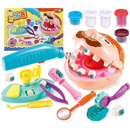 ZXYWW Kids Play Clay Dough Tool, DIY Handmade Creative 3D Color Mud Toy, Pretend Barber Cut Comb Plasticine Tool Kit for Boys and Girls