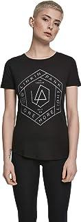 MERCHCODE Linkin Park Damen T-Shirt One More Light Tee, enganliegend, mit Logo, Band Name und Songtext Print