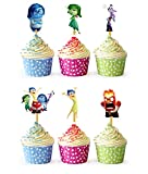 24x Cupcake Topper Picks (Inside Out)