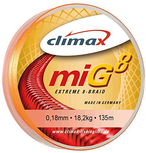 CLIMAX- miG 8 Fluo-Orange 0,18mm, 135m