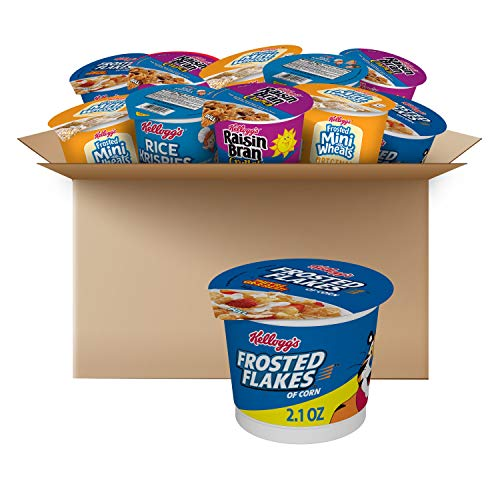Kellogg's, Breakfast Cereal in a Cup, Assortment Pack, Bulk Size (Pack of 24 Cups)