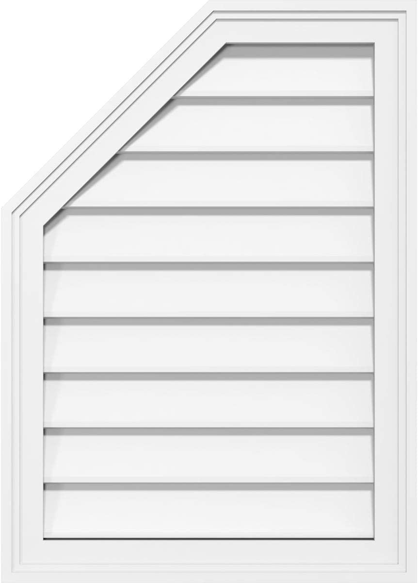Ekena Millwork GVPOL20X2602SN Octagonal Surface Mount Ranking Max 56% OFF integrated 1st place PVC Gable