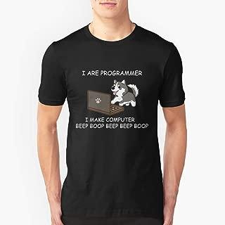 HUSKY I ARE PROGRAMMER I MAKE COMPUTER BEEP BOOP T SHIRT Slim Fit TShirtT shirt Hoodie for Men, Women Unisex Full Size.